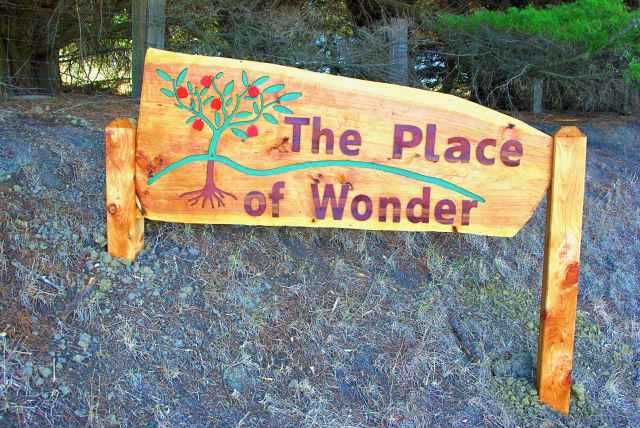 The Place of Wonder sign